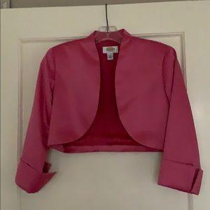 Talbots pink bolero jacket